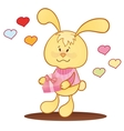 Cute bunny with hearts vector image vector image