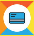 debit card colorful outline symbol premium vector image