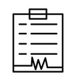 diagnostic report line icon 96x96 pictogram vector image vector image