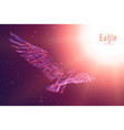 eagle in flight to the sun from abstract vector image vector image