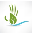 ecological wood and water icon vector image