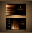 elegant gold and black business card design vector image vector image