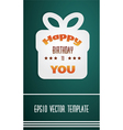 festive card template vector image vector image
