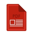 File PDF icon flat style vector image vector image