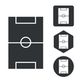 Football field icon set monochrome vector image vector image