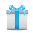 gift box blue vector image vector image