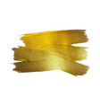 gold foil watercolor texture vector image vector image