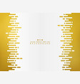 golden abstraction of stripe line with white vector image
