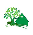 green farm logo vector image