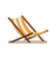 hammock-chair with stripes vector image vector image