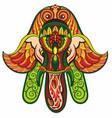 hamsa hand and elephant image vector image vector image