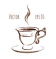 Hand drawn watercolor sketch vector image vector image