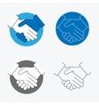 Handshake Thin Line Icon Set vector image vector image