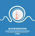 Hookah sign Blue and white abstract background vector image