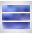 Horizontal Set of Banners with Multicolored Blured vector image