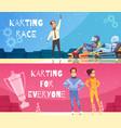 karting banners set vector image vector image