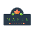 label maple syrup vector image