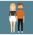 man and woman couple icon image vector image vector image