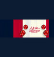 merry christmas horizontal banner with red vector image