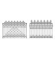 metal fencing in retro style realistic vector image