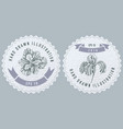 monochrome labels design with iris vector image vector image