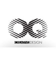 oq o q lines letter design with creative elegant vector image vector image