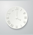 paper flat clock icon with shadow vector image vector image