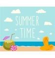 Retro elements for Summer calligraphic designs vector image vector image