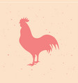 rooster vintage logo retro print poster vector image