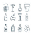 set of bar drinks vector image vector image