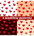 Set of seamless patterns hearts vector image vector image