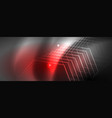 shiny neon techno template neon lines background vector image vector image