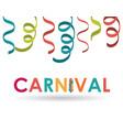 streamer carnival festival design vector image