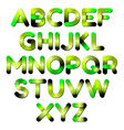 stylized smoothed font and alphabet vector image vector image