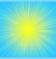 sun burst blast background yellow on blue vector image vector image