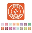The 100 percent natural icon Eco and bio ecology vector image vector image