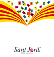 traditional festival of catalonia vector image vector image