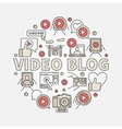 Video blog round vector image vector image