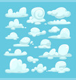 white clouds cartoon set vector image