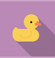 yellow rubber duck toy bath toy vector image