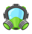 respirator safe mask vector image
