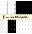 polka dots seamless patterns vector image