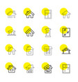 16 residence icons vector image vector image