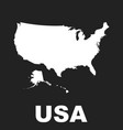america map icon flat usa sign symbol on black vector image