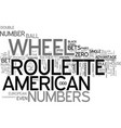 american roulette systems game strategies and vector image vector image