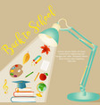 back to school background with stationery vector image vector image