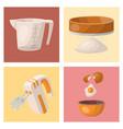 baking pastry prepare cooking ingredients kitchen vector image
