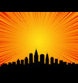 big city comic book style background vector image vector image