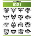black icon set dogs i vector image vector image
