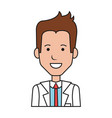 businessman avatar character icon vector image